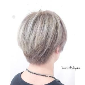 メンズ ホワイトヘア