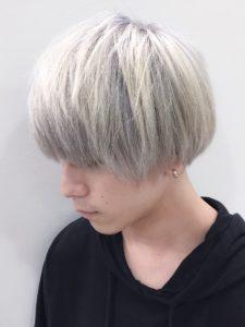 ホワイトヘア ホワイトアッシュ ホワイトブリーチ メンズ