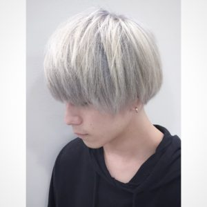 ホワイトヘア メンズ ホワイトアッシュ