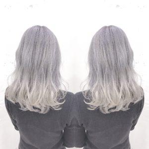 ホワイトヘアー アッシュホワイトヘア