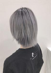 ホワイトヘア ホワイトアッシュ グラデーション