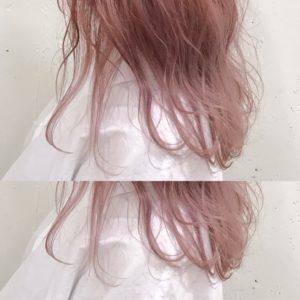ホワイトピンクヘアー