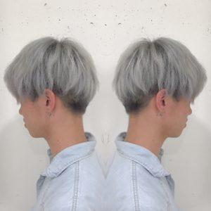 ホワイトヘアー メンズヘアカラー