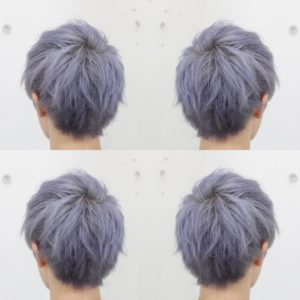 メンズ ホワイトアッシュヘア