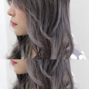 ホワイトアッシュグレーヘア
