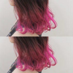 ピンクヘア カラーバター